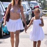 Claudia Gerini con la figlia