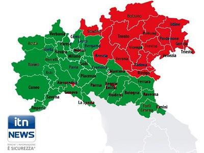 Province Nord Italia Cartina.Satellite In Caduta Interessate Le Regioni Di Nord Est Arrivo Ritardato Evitare Di Toccare I Detriti Roba Da Donne Likers